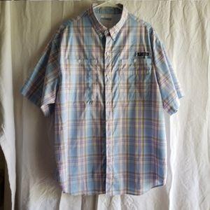 Columbia PFG Plaid Short Sleeve Shirt